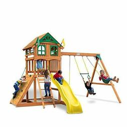 Gorilla Playsets 01-1063-Y Outing Wood Swing Set with Wood R