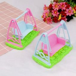 1 Pcs Swing Set For Doll Baby Girls Doll Toy House Furniture