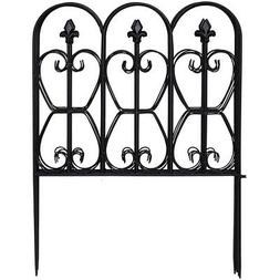10FT x 32in Folding Decorative Garden Fence Set of 5 Coated