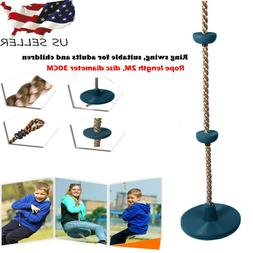 12 inch climbing rope with platforms swing