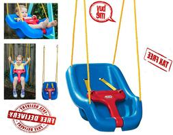 Little Tikes 2-in-1 Snug 'n Secure Swing Blue Outdoor Indo