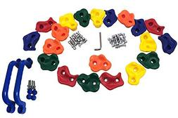 KINSPORY 20 Pig Nose Shape Rock Climbing Holds for Outdoor W