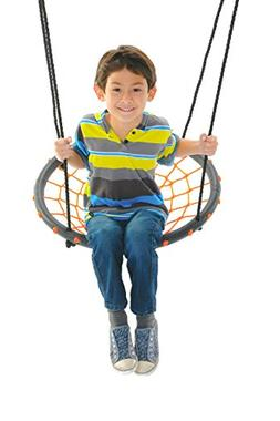 24 Spider Web Playground Swing, Orange Nylon Rope with Padde