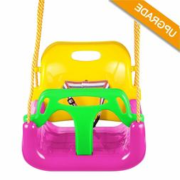 3-in-1 Infant Swing Set for Toddler Baby Seat Playground Out