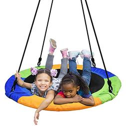 PACEARTH 40'' Saucer Tree Swing Flying 660lb Weight Capacity