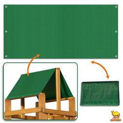 "43""x90"" Waterproof Replacement Canopy for Backyard Wood Play"