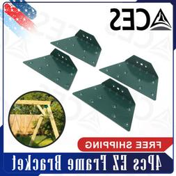 4Pcs EZ Frame Bracket Fit for Swing Set Swing Beam Green