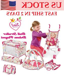 5 Piece Set Baby Doll Accessories-Swing Gift High Chair Pack