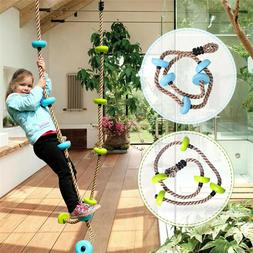 6.5 ft Climbing Rope with Platforms Swing Set Accessories Fu
