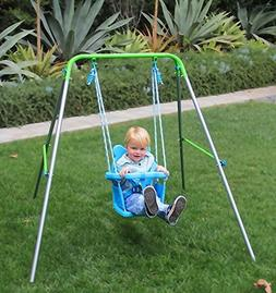 HLC A-framed Baby Folding Toddler Swing Indoor & Outdoor Swi