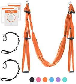 UpCircleSeven Aerial Yoga Swing Set - Yoga Hammock/Trapeze/S
