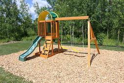ainsley wooden swing set up to six