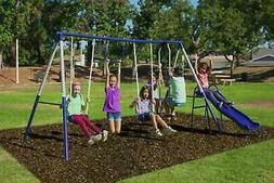 Sportspower Arcadia Metal Swing Set With Two Adjustable Swin