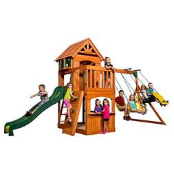 atlantis cedar wood playset swing
