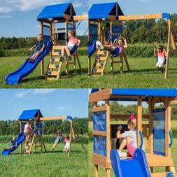 Backyard Discovery Aurora Wooden Cedar Swing Set