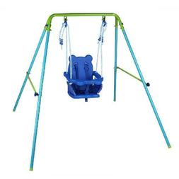 Baby Swing Set Toddler Kids Yard Patio A-Frame Indoor Outdoo