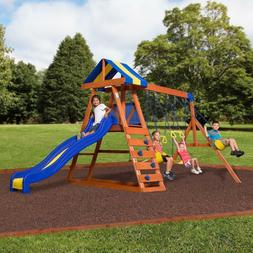 Backyard Discovery Dayton Cedar Wooden Swing Set With  8 FT