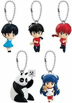 BANDAI Ranma 1/2 swing Gashapon 5set mascot capsule toys Fig
