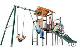 Sportspower Big Ridge Heavy Duty Metal Swing Set with Wooden