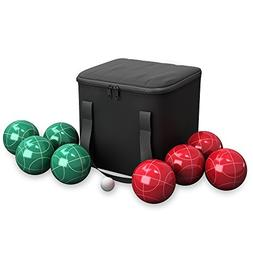 Hey! Play! 80-76090 Bocce Ball Set- Outdoor Family Bocce Gam