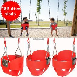 Swing Set Full Bucket Swinging Chair Kid Baby Toddle SEAT Ou