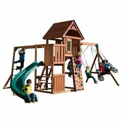 Swing-N-Slide PB 8272 Cedar Brook Play Set with Two Swings,
