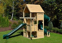 Triumph Play Systems Cedar Swing Set - CANTERBURY SPACE SAVE