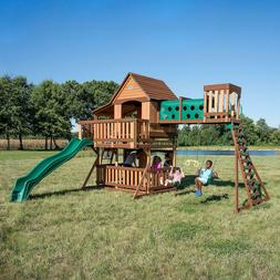 Cedar Swing Set/Play Set Playground OCEANVIEW by Backyard Di