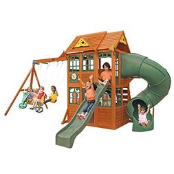Charleston Lodge Wooden Swing Set by KidKraft