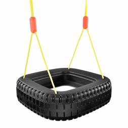 Classic Tire Swing 2 Kids Children Outdoor Play Durable Back