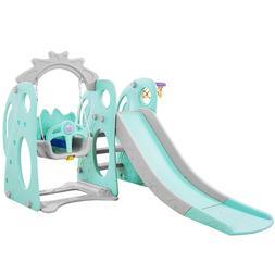 PlayEasy Climber and Swing Set Combination of Slide Basketba