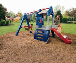 Little Tikes Clubhouse Swing Set Childrens Outdoor Sldes Wal