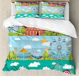 Colorful Duvet Cover Set with Pillow Shams Carousels Slide S