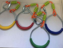 Colorful Swing Gymnastic Rings - Outdoor Backyard Play Set O