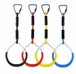 Colorful Swing Gymnastic Rings - Outdoor Backyard Play Sets