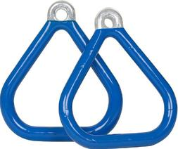 Swing Set Stuff COMMERCIAL COATED TRIANGLE TRAPEZE RINGS   W