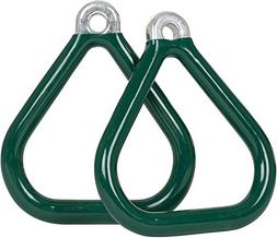Swing Set Stuff Commercial Coated Triangle Trapeze Rings wit