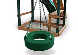 Gorilla Playset Accessories Turbo Tire Swing in Green