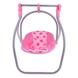 Convertible Doll Highchair Swing Seat Baby Doll Play Set Acc