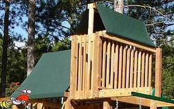 CUSTOM SIZE PLAYSET CANOPY/TARP ~GREEN, up to 6FT LG - Outdo