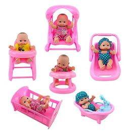 Liberty Imports Cute Lil Baby Doll Collection | Set of 6 Min