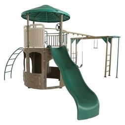 Lifetime Deluxe Adventure Tower Play Set 90630 Earth Tone Co