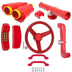 SWING SET STUFF DELUXE ACCESSORIES KIT RED park accessory pl