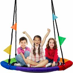 Detachable Swing Sets for Kids Playground Platform Saucer Tr