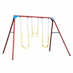 Details about  10 ft. A-Frame Swing Set Primary Colors,