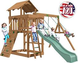Creative Playthings  Eastport Swing Set Made in The USA