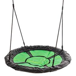Blue Rabbit Play Eclipse Kids Saucer Web Swing with Ropes/Ch