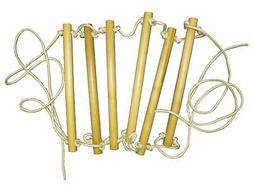 Escape Wooden Rope-Ladder Climbing Frame 6 Rungs Steps Quali