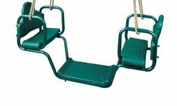 Face-to-Face Glider Swing with Rope for Swing Set