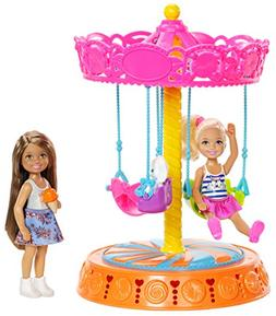 Barbie FJH89 Club Chelsea Carousel Swing Mattel , Brown/a